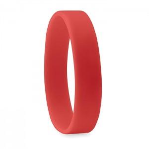 Silikonový náramek, červená