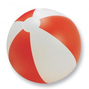 Nafukovací plážový míč, červený,průměr 24,5 cm