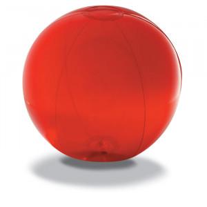 Nafukovací plážový míč, červený,průměr 28 cm