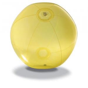 Nafukovací plážový míč, žlutý,průměr 28 cm