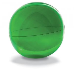 Nafukovací plážový míč, zelený,průměr 28 cm