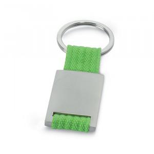 Kovová klíčenka, sv. zelená