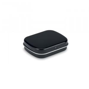 Plechovka s 28 g bonbónů, černá