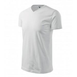 Tričko Heavy V-neck bílá XL