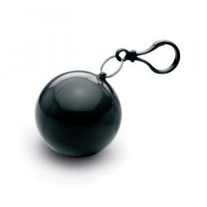 Transparentní pláštěnka poncho v pouzdře, černá
