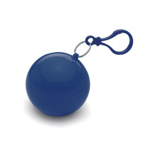 Transparentní pláštěnka poncho v pouzdře, modrá