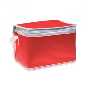 Termotaška na 6 plechovek , červená