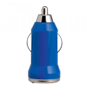 USB nabíječka do auta, modrá
