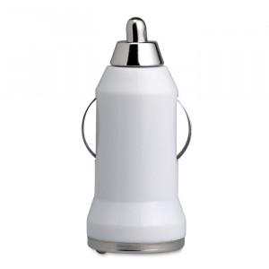 USB nabíječka do auta, bílá