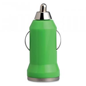 USB nabíječka do auta, světle zelená