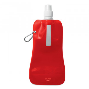 Skládací láhev na vodu, červená