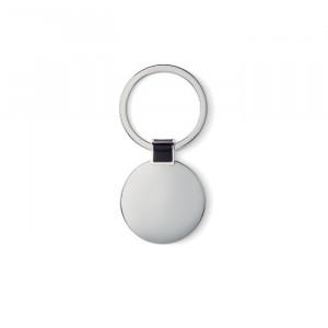 Oválná kovová klíčenka, černá
