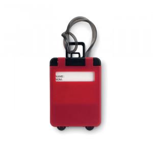 Jmenovka na zavazadlo, červená
