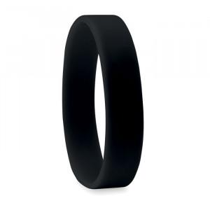 Silikonový náramek, černá