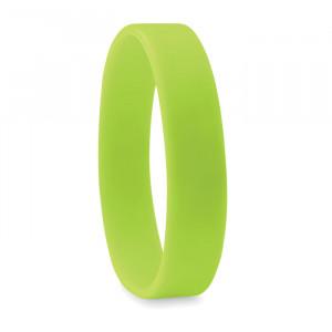 Silikonový náramek, světle zelená