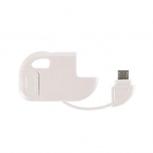 2 in 1 cable Micro USB white