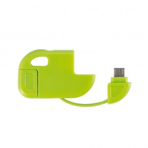 2 in 1 cable Micro USB green