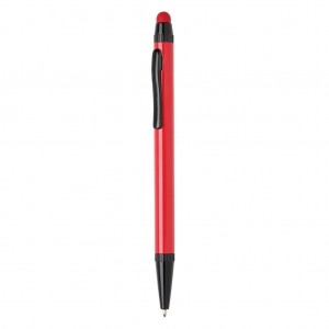 Aluminium slim stylus pen, red