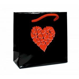 Papírová taška Valentýn 15x7x15 cm